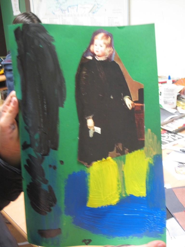 Corta tu retrato de corte, Velázquez