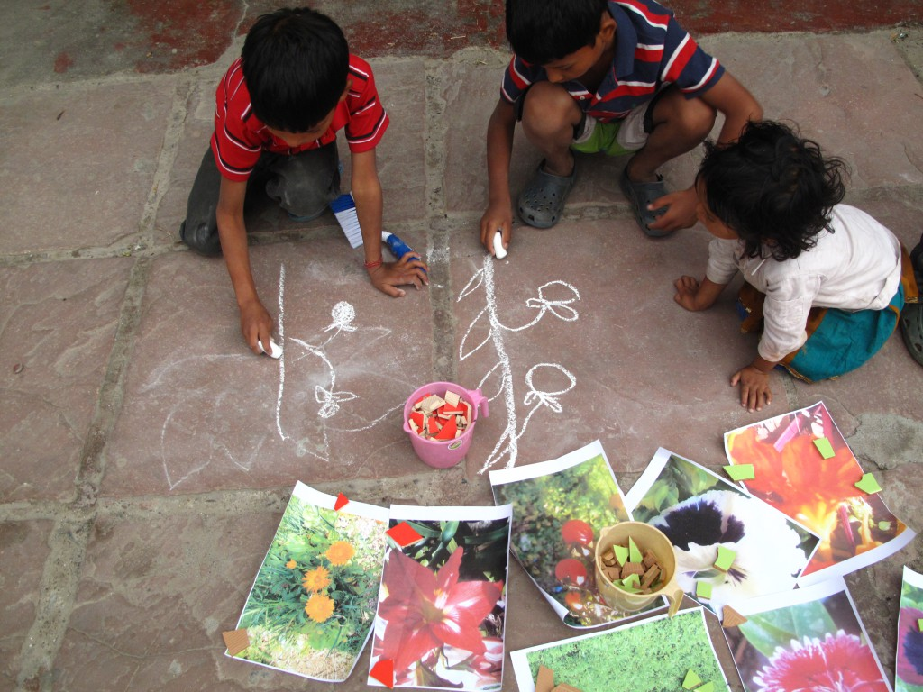 Arts Projects in the children home Ramanas Garden